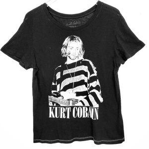 Tops - Kurt Cobain Graphic Tee Black Women's Size Large